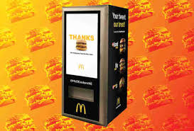 How To Make A Vending Machine Spew Out Money Extraordinary McDonald's Big Mac ATM Machine In Boston Makes Its Debut Thrillist