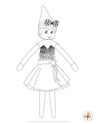 Get the tutorial at the elf on the shelf. Girl Elf On The Shelf Coloring Page She S Ready For The Christmas Season In Her Holiday Dress Girl Elf Christmas Coloring Pages Free Christmas Coloring Pages