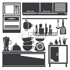 cupboard clipart black and white. kitchen cabinet: appliances illustration cupboard clipart black and white i