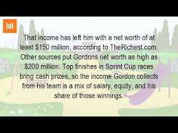 What Is Networth What Is The Net Worth Of Jeff Gordon Youtube