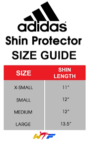 Adidas Chest Protector Sizing Chart Adidas Wtf Approved Shin Guards Aditsp01