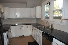 Kitchen White Kitchen Cabinets With Black Granite Modern Kitchen