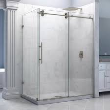 Brilliant Corner Shower Stall Kits Deluxe With Frameless Glass In Perfect Design