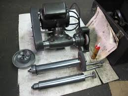 dumore tool post grinder. dumore 1/2 hp lathe toolpost grinder with (3) spindles tool post