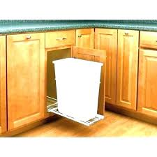 wooden trash can cabinet double bin for kitchen wood tilt out diy outdoor wooden trash can cabinet