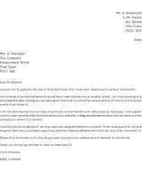 Hospital Porter Cover Letter Example Icover Org Uk