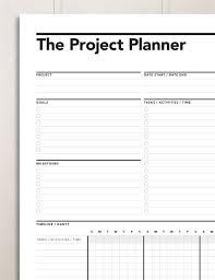 Project Planner Gantt Chart Productivity Planner Work Planner