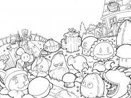 Small Picture plants vs zombies coloring pages to download and print for free