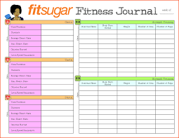 Weight Journal Template Expin Franklinfire Co