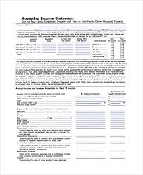Operating Statement Template Barca Fontanacountryinn Com