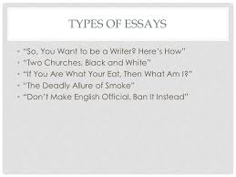 "titles as signals titles first sentences ""don t blame the eater  types of essays so you want to be a writer"