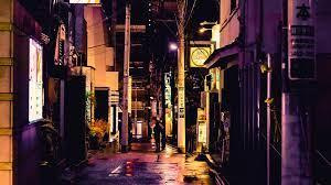 Wallpaper Street, city, alley, night ...