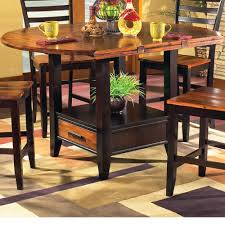 Dining Table With Storage Buy Abaco Drop Leaf Counter Height Storage Dining Table In Acacia