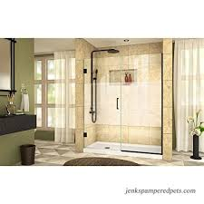 dreamline shdr 245857210 hfr 09 unidoor plus w x h frameless hinged shower door frosted band