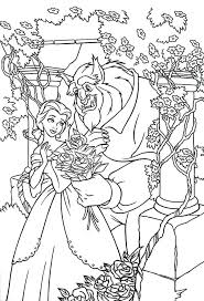 Free Beauty And The Beast Coloring Pages To Print Belle In Rose