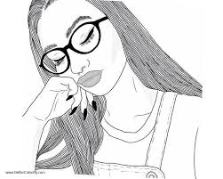 Realistic People Coloring Pages Adults
