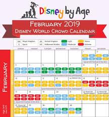 February 2019 Disney World Crowd Calendar In 2019 Disney