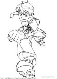 running ben 10 coloring page