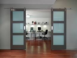 sliding office door. Office:Chic Home Office With Modern Sliding Barn Door Metal Gliders Chic G