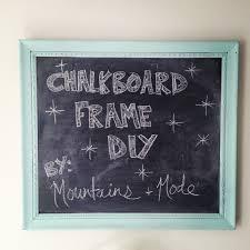 diy chalkboard frame part ii