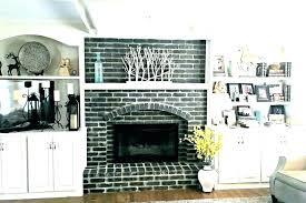 black painted brick fireplace painted brick fireplace surround brick fireplace surround black brick fireplace painted black