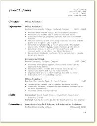 office assistant resume format by Janet L. Jones