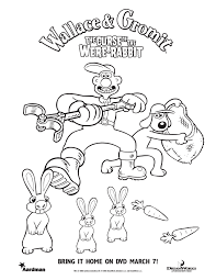Wallace And Gromit Coloring Pages Free Coloring For Kids 2018