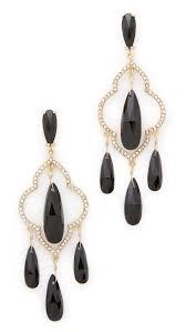 kate spade new york lantern gems chandelier earrings black women accessories jewelry