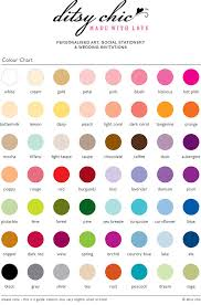 ditsy chic colour chart