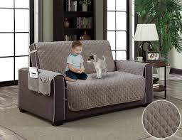 gray micro suede slipcover pet dog cat furniture couch protector with pockets com