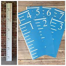 Growth Chart Stencil Designs Stencils For Diy Growth Chart Ruler Vinyl One Time Use