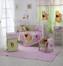 baby girl crib bedding sets with theme winnie the pooh nursery bedding for baby bedding with color pink and green