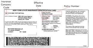 Sample Ny State Insurance Id Cards | New York State Department Of ...