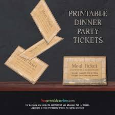 Lunch Ticket Template New Vintage Paper Printable Meal Ticket Template Free Printables Online