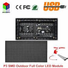 <b>P3 Indoor</b> SMD <b>full color</b> LED display module 192mm x 96mm,64*32 ...