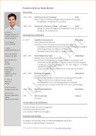 12 Job Application Cv Sample Formal Buisness Letter