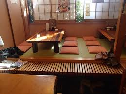 Dining Room:Small Wood Japanese Dining Table With Red Sitting Cushion Small  Wood Japanese Dining