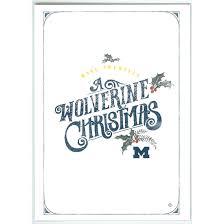 Christmas Notecard Paulson Designs University Of Michigan Wolverine Christmas Note Card