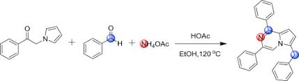 ch3co2h ch3co2h prompted three components tandem reaction an