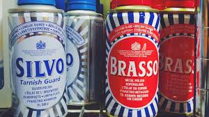 8 brasso silvo or other polishes