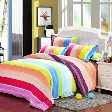 childrens rainbow duvet covers rainbow color stripes duvet cover set single double king size polyester bedding