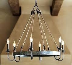 chandeliers rustic metal chandelier lighting pottery barn wine barrel electro bp rustic metal chandelier