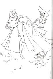Aurora Dance With Animals Coloring Pages