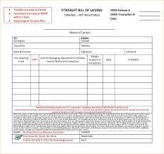 Free Bill Of Lading 24 Free Bill Of Lading Form Pay Stub Template 10