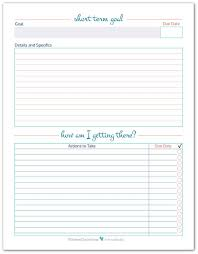 the long  productivity and track on pinterestshort term goal setting worksheet printables to help you set  plan and track your short