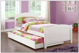 White Wood Trundle Beds For Kids