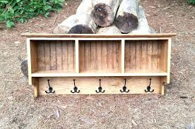 Rustic Coat Rack With Shelf Marvelous Coat Hooks With Shelf Coat Rack With Shelf Storage Bench 8