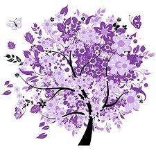 Smartcoco 5D DIY <b>Diamond Painting</b> Purple Tree <b>Wall Sticker</b> 3D ...