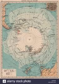 Polar Routes Charts South Polar Chart Antarctic Explorers Routes Larsen Nares