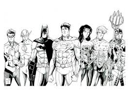 Small Picture The Magnificent Seven of Justice League Coloring Page NetArt